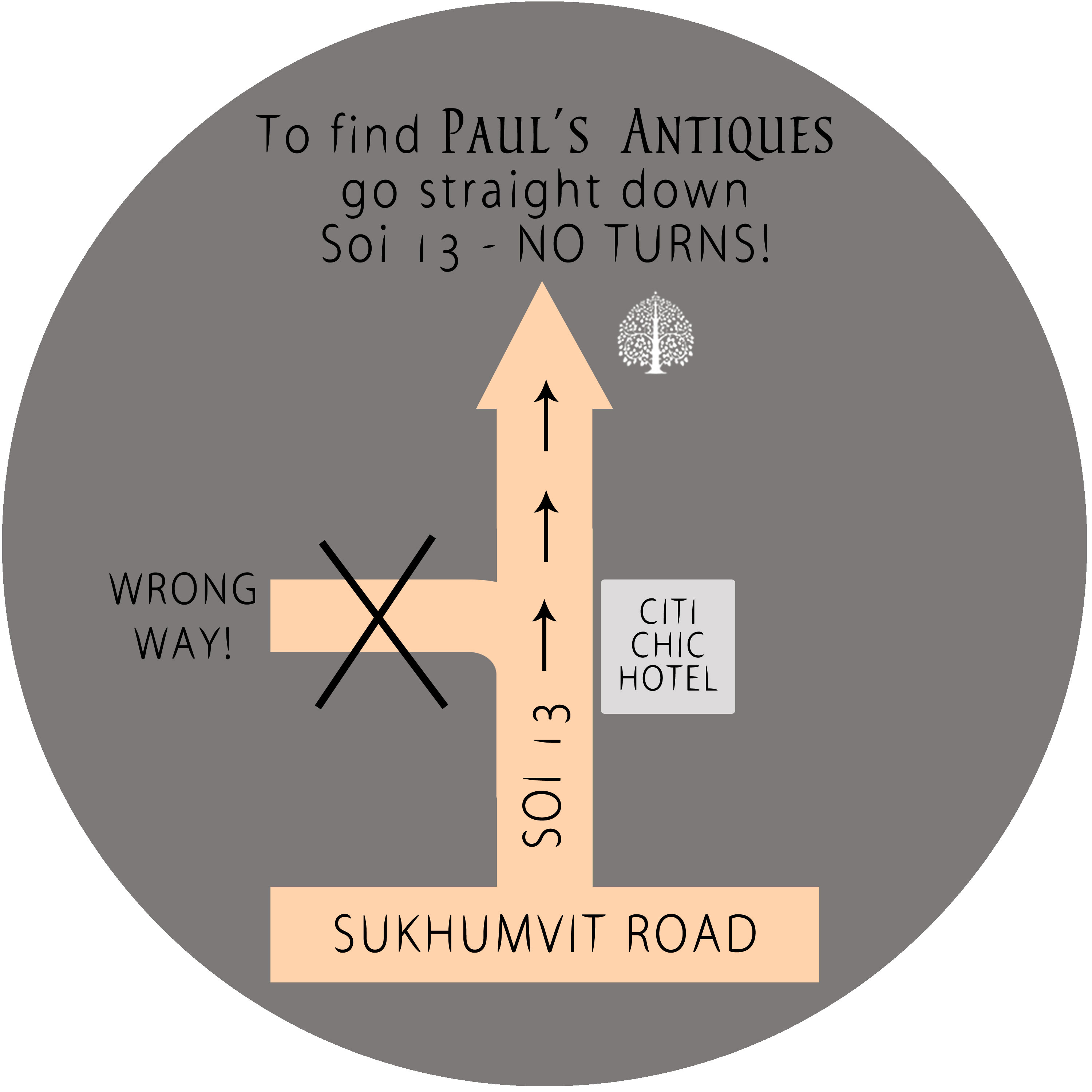 Paul's Antiques Map