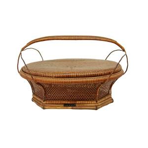 """Antique Lidded Carrying Basket (""""Takra Heu"""")"""
