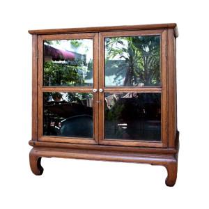 Rare Thai Antique Teak Display Cabinet
