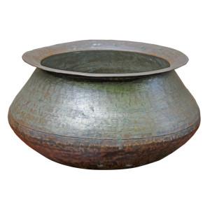 Large Bronze Cooking Pot