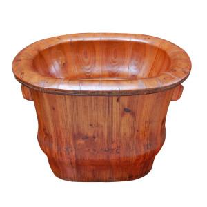 "Chinese Elm Wood ""Baby Bath"" Midwives Birthing Basket"