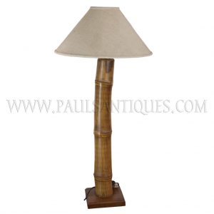 Bamboo and Teak Standing Lamp