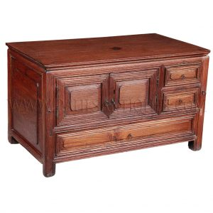 Rare Antique Chinese-Thai Mortoise and Tenon Joined Teak Merchant's Valuables Chest