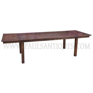 Custom Reclaimed Teak Extendable Dining Table