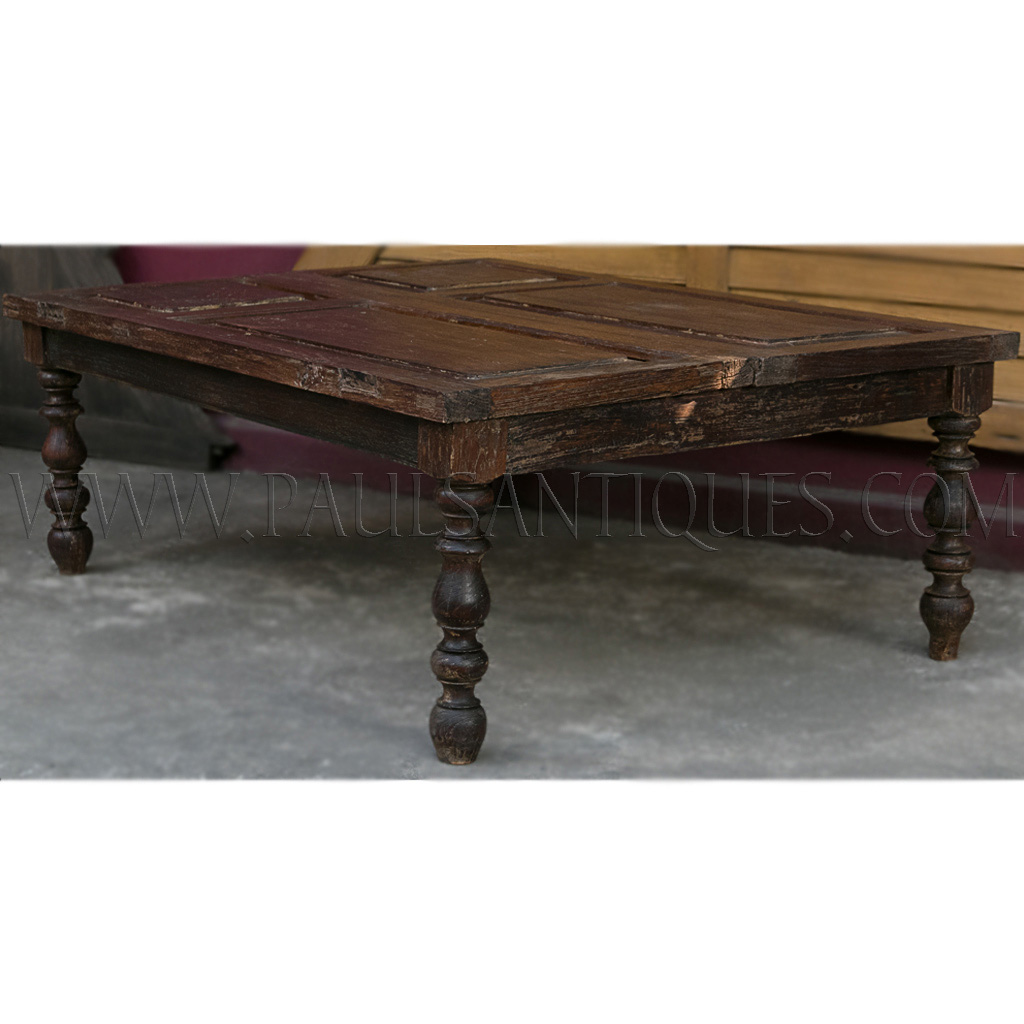 Old Thai Teak Window Shutters Repurposed As A Coffee Table With Salvaged  Balustrade Legs. ฿ 18,000