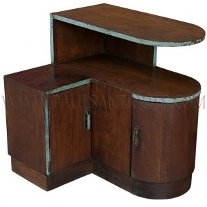 Original Restored Thai Teak Art-Deco Side Table