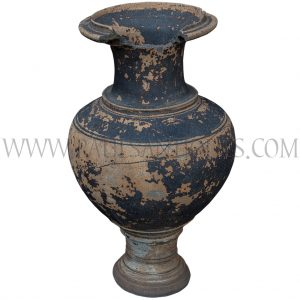 "Late Angkor Period Khmer ""Classic"" Ceramic Jar with Light Brown Glaze Unearthed in Thailand"