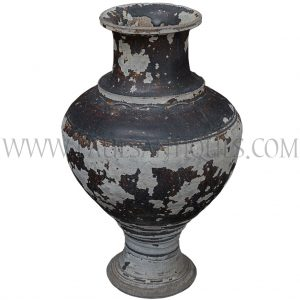 "Late Angkor Period Khmer ""Classic"" Ceramic Jar with Dark Brown Glaze Unearthed in Thailand"