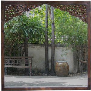 Custom Reclaimed Teak Mirror with Thai Teak Antique Carvings