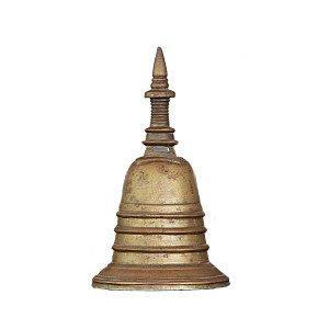 Pagoda-shaped Bronze Hand Bell