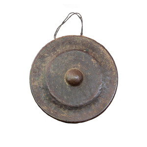 Cambodian Hand-Hammered Bronze Gong