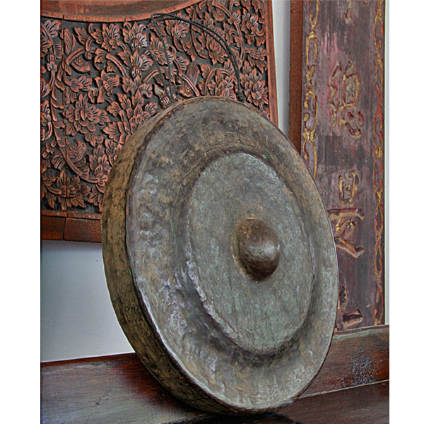 Cambodian Hand Hammered Bronze Gong