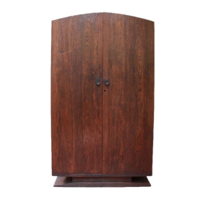 Thai Art-Deco Teak Wardrobe