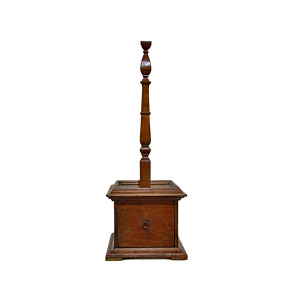 Antique Colonial Burmese Teak Hat Stand with Drawer
