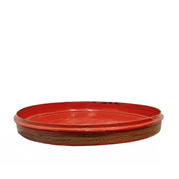 Burmese Lacquered Bamboo Serving Tray