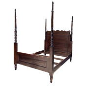 Custom Colonial-style Reclaimed Teak Poster Bed