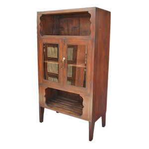 Thai Teak Kitchen Cabinet with Removable Custom Wine Rack