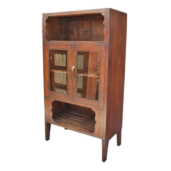 Thai Teak Kitchen Cabinet with Removable Custom Wine Rack
