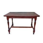 Colonial Burmese Teak Desk/Writing Table