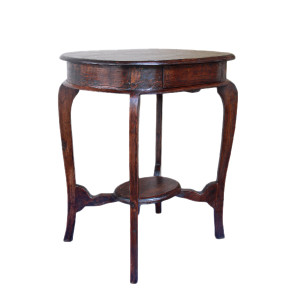 Burmese Colonial Teak Bed Side Table