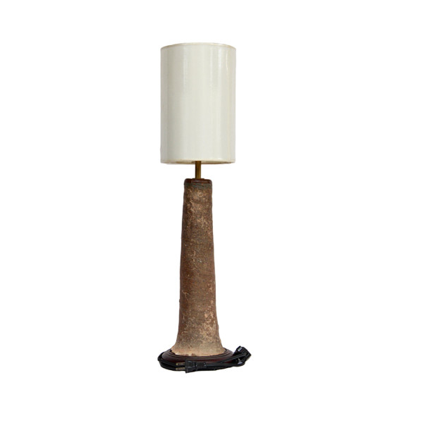 Table Lamp made with Sawankhalok Pottery Remnant
