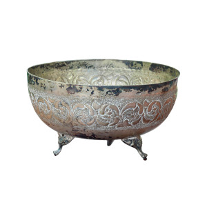 Thai Silver 3-Footed Bowl