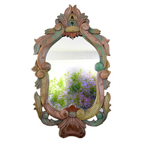 Carved Teak Mirror from Chiang Mai