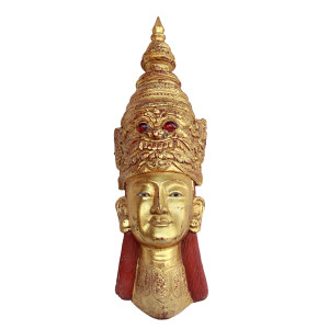 Tribal Burmese Teak Head Figure