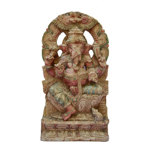 Indian Wood Carving of Ganesha