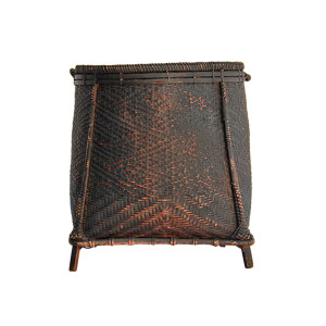 "Northern Thailand Footed ""Boong"" Grain Basket"