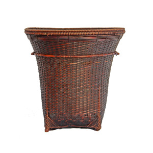 "Hill-tribe Back Basket (""kra paa"") from Northern Thailand"
