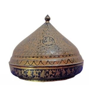 "Burmese Black Gilded (""shwei-zawa"") Lidded Lacquered Bowl"