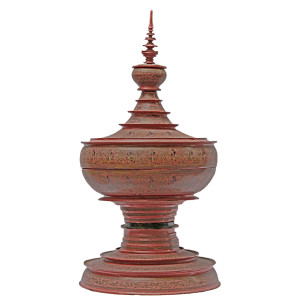 "Large Burmese Lacquerware ""Hsun-ok"" Offering Vessel"