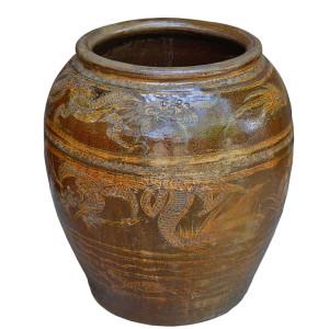 Old Ratchaburi Dragon Pot/Water Jar