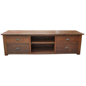 Custom Reclaimed Teak TV Stand/Low Console