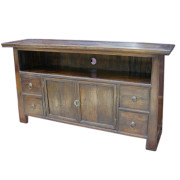 Custom Reclaimed Chinese Accent Teak TV Stand