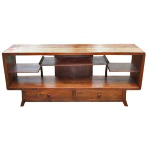 Custom Art-Deco Style Teak TV Cabinet