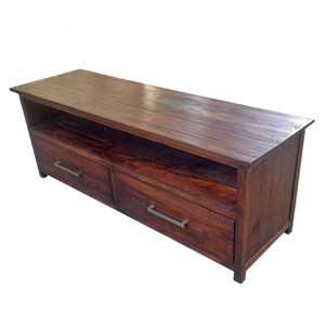 Custom-made Reclaimed Teak TV Stand with Drawers