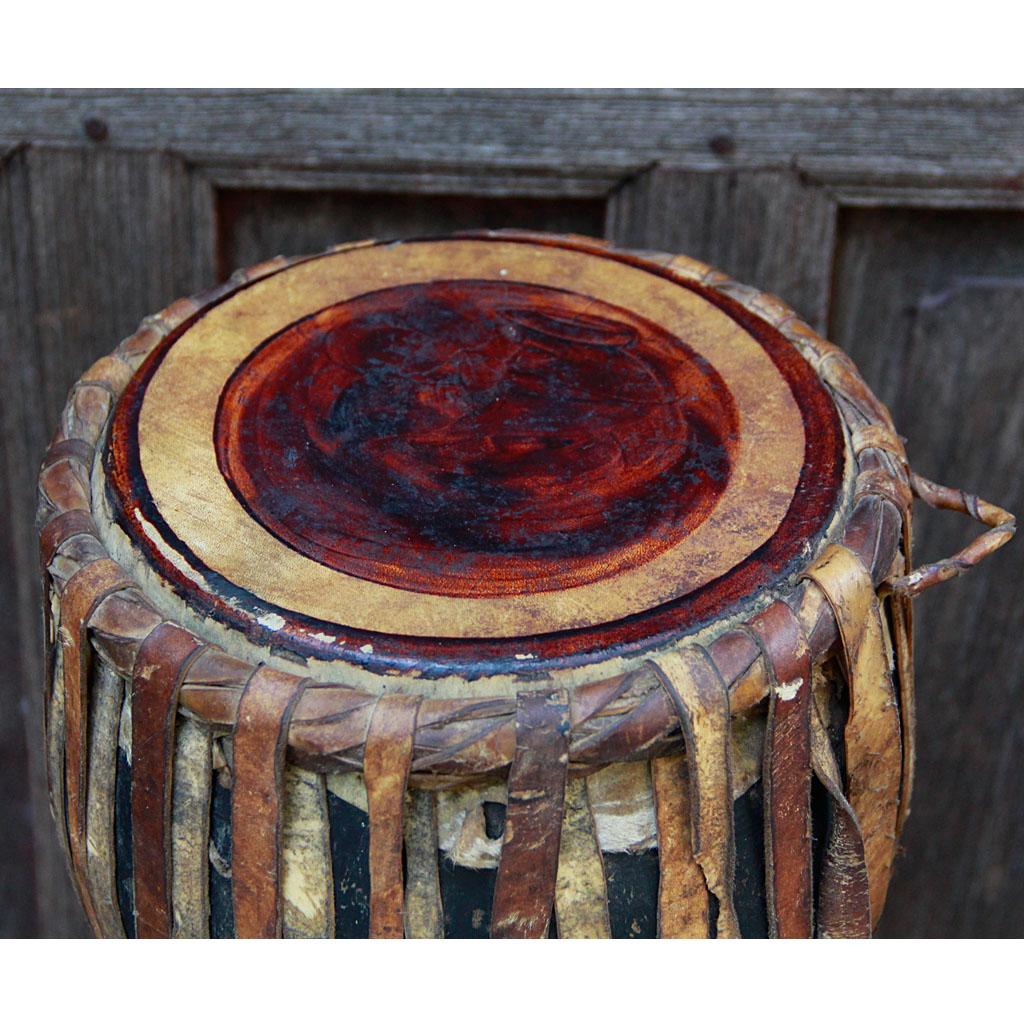 Burmese Teak Goblet Ozi Drum