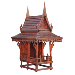 Old Restored Thai Teak Spirit House
