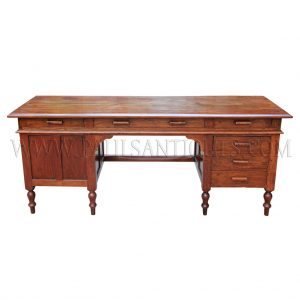Colonial-era Burmese Teak Desk