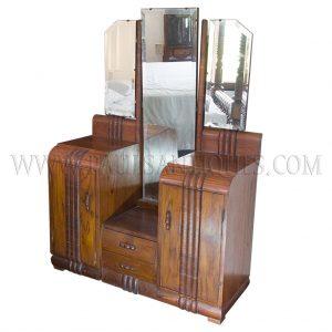 Thai Teak Art Deco Vanity / Dressing Table