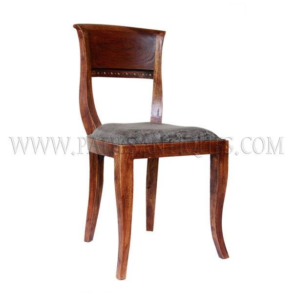 Italian Sofa Jakarta: Indonesian Teak And Leather Dinning Chair