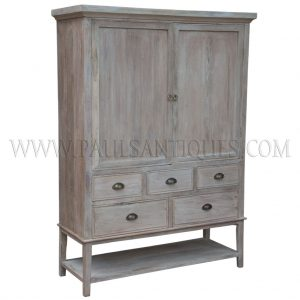 Custom Reclaimed Teak Bar Cabinet