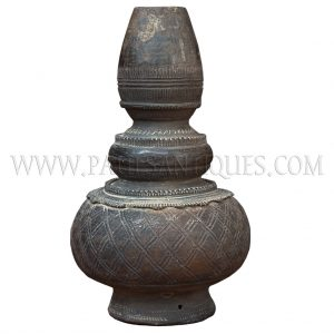 """Unglazed Long-necked Earthenware Water Vessel (""""Nam Ton"""") from Laos"""