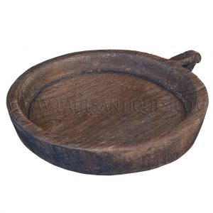 "Northern Thai Round Teak Sticky Rice Tray (""Kraboam"")"