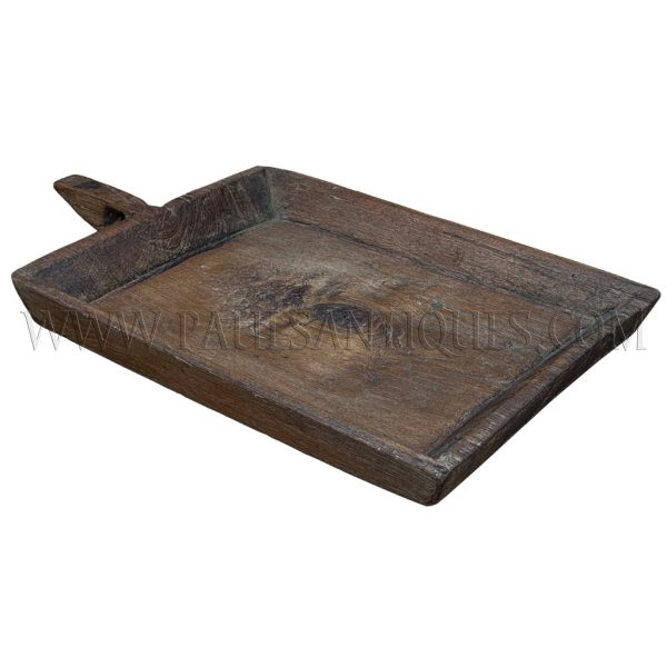 "Small Square Teak Northern Thai Sticky Rice Tray (""Kraboam"")"