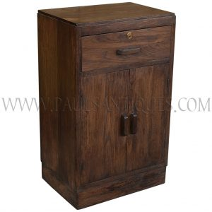 Art-Deco Teak Side Cabinet with Drawer