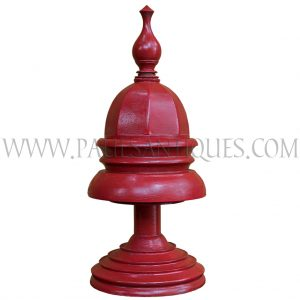 Burmese Red Lacquered Offering Vessel/Wedding Bowl