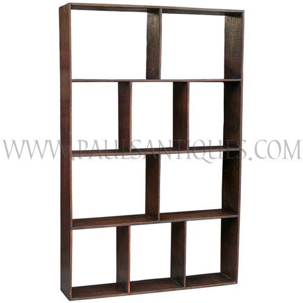 Custom Reclaimed Wood Open Modular Shelf